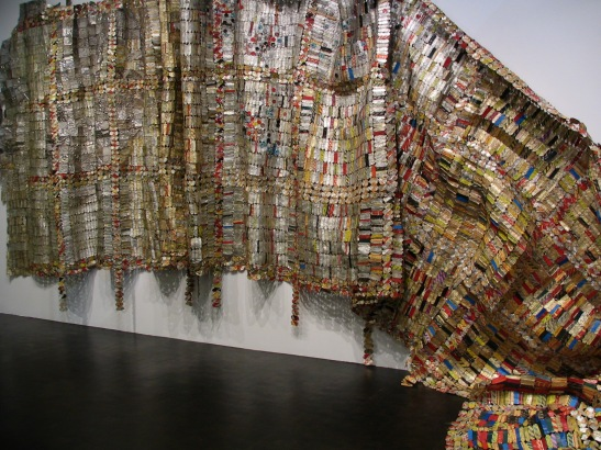 El Anatsui, Fading Scroll - LACMA